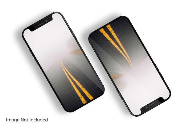 Makieta smartfona na białym tle renderowania projektu
