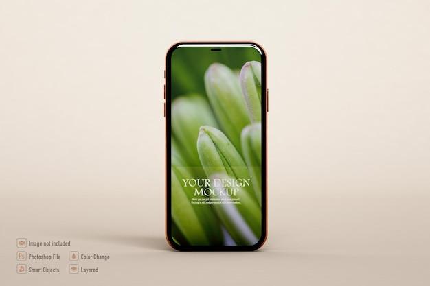 Makieta smartfona na białym tle