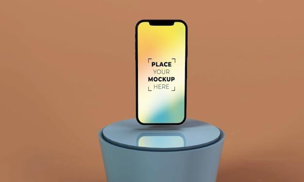 Makieta smartfona na pełnym ekranie