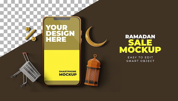 Makieta smartfona ramadan kareem