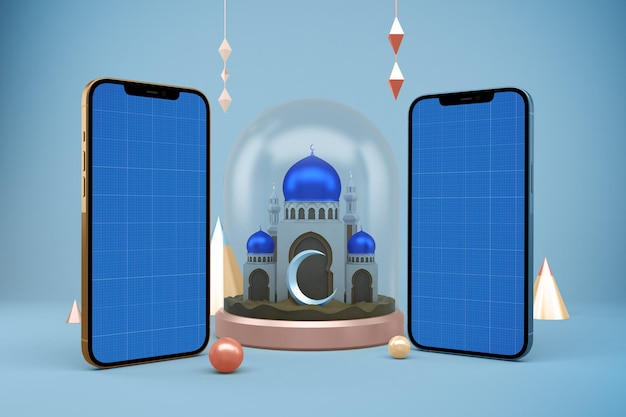 Makieta smartfona ramadan