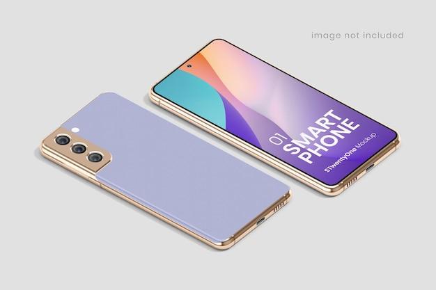 Makieta smartfona z androidem