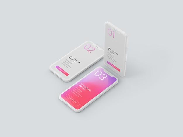 Makieta smartfona z gliny