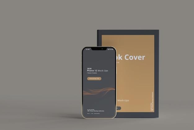 Makieta smartfona z książką w twardej oprawie