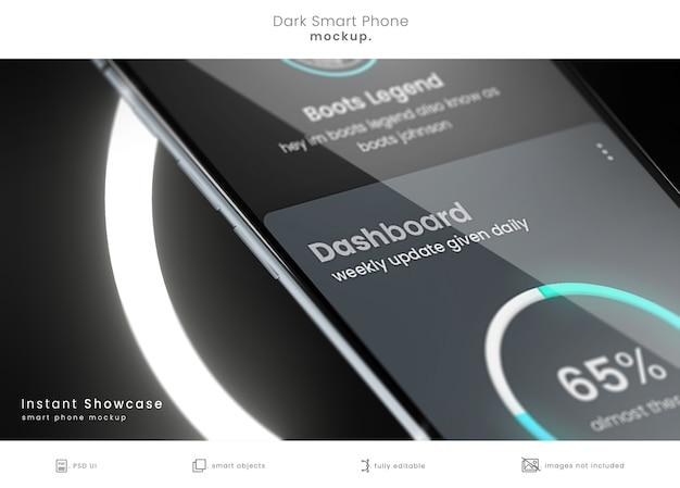 Makieta smartfona zbliżenie