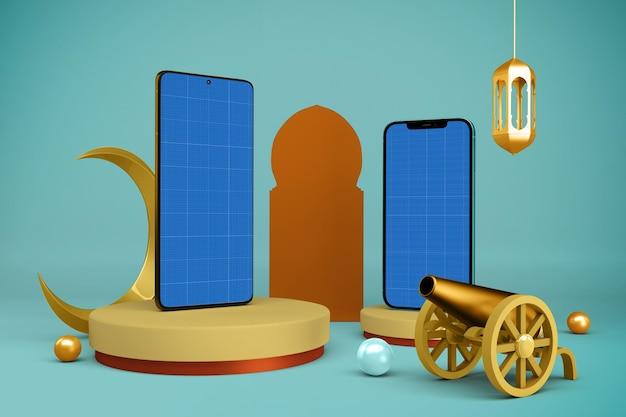 Makieta Smartfonów Ramadan Premium Psd