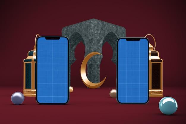 Makieta smartfonów ramadan