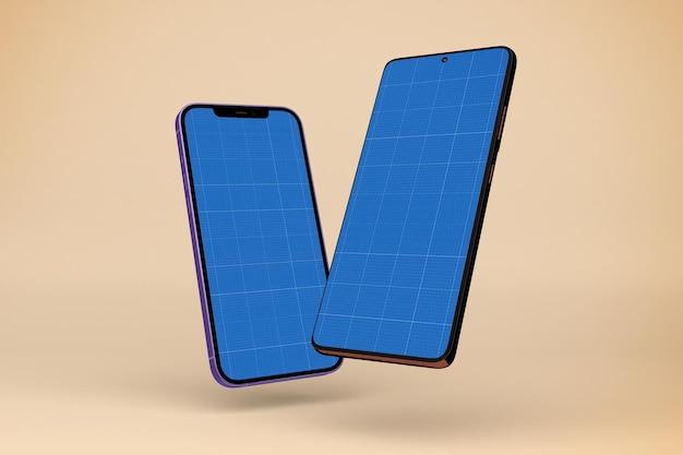Makieta smartfonów