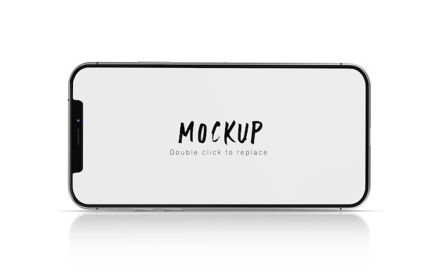Makieta smartfonu na białym tle psd