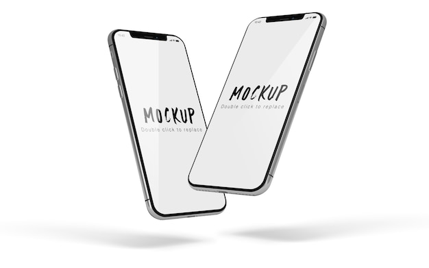 Makieta smartphone na białym tle psd