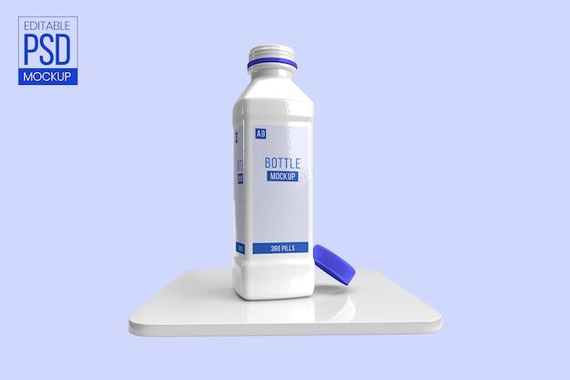 Makieta solidnej plastikowej butelki