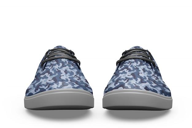 Makieta sport butów na białym tle