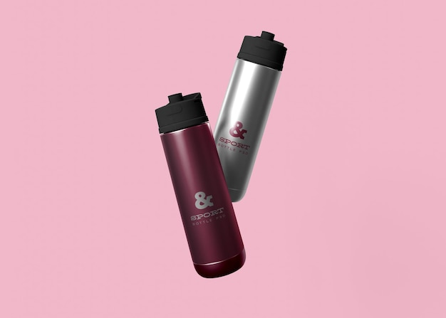 Makieta sportowych butelek na wodę