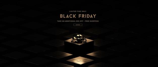 Makieta sprzedaży w czarny piątek w renderowaniu 3d