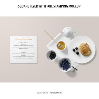 Makieta square flyer