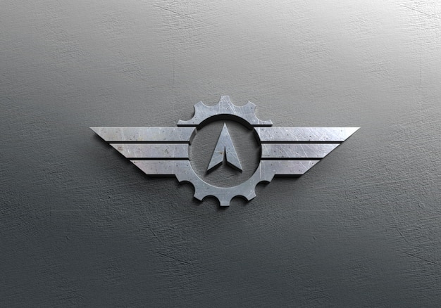 Makieta srebrnego logo