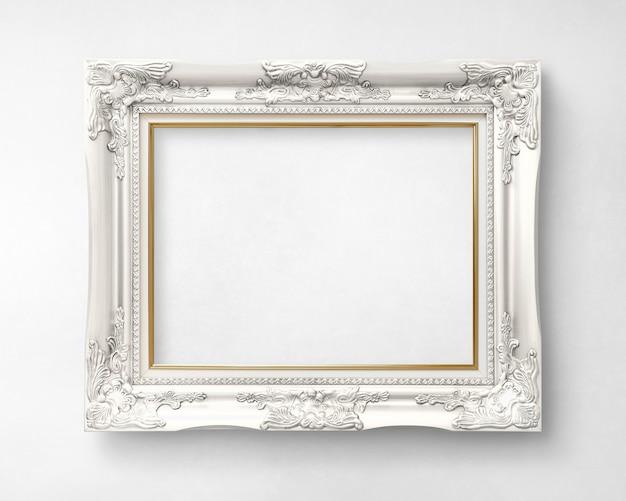 Makieta srebrnej ramki na zdjęcia
