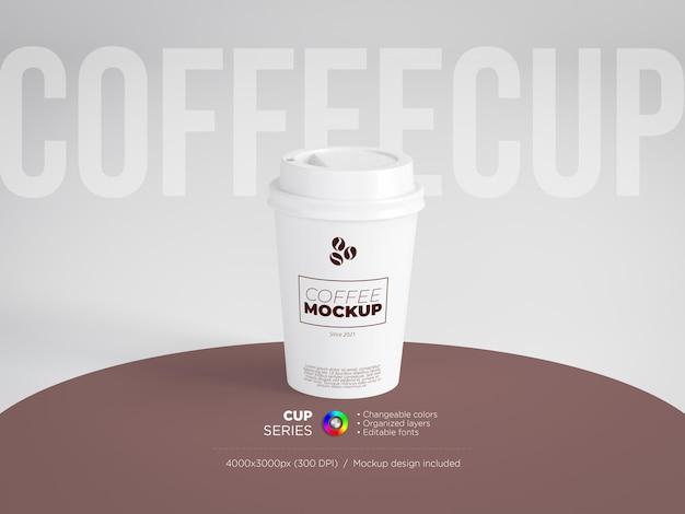 Makieta średniej wielkości papierowego kubka do kawy