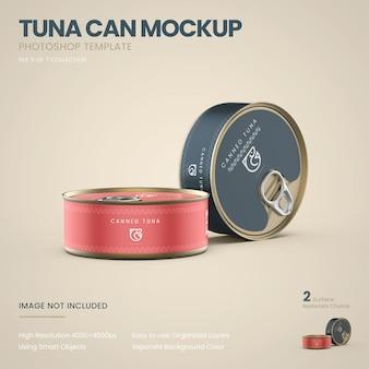 Makieta stojących puszek tuńczyka