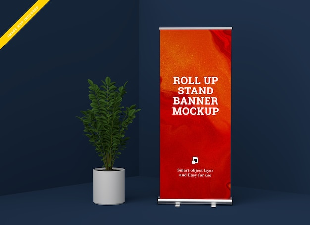 Makieta stojaka roll up banner