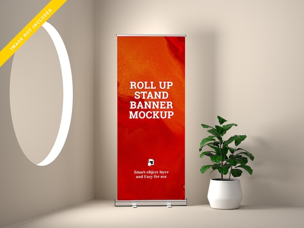 Makieta stojaka roll up banner