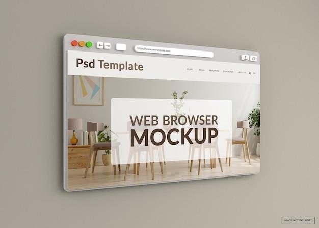 Makieta strony internetowej przeglądarki internetowej