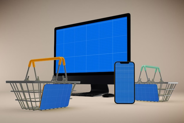 Makieta strony responsive shopping