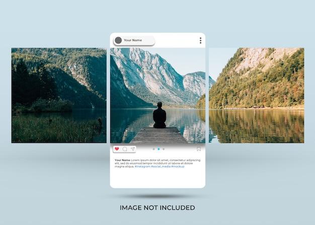 Makieta stylu podglądu mediów społecznościowych na instagramie