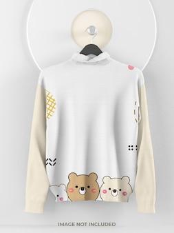 Makieta swetra dla dziewczynki