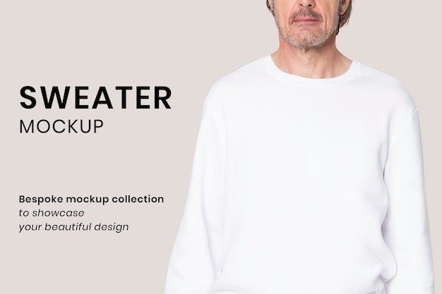 Makieta swetra psd dla starszej odzieży zimowej do edycji