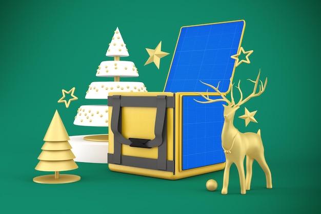 Makieta świąteczna z dostawą jedzenia