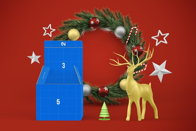 Makieta świątecznego pudełka