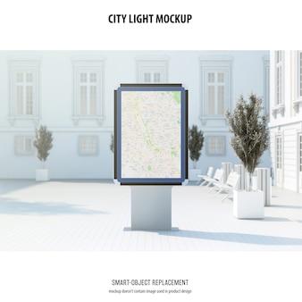 Makieta światła miasta