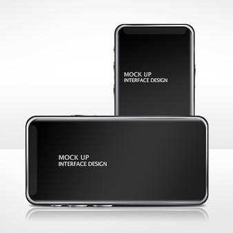 Makieta szablon interfejsu telefonu komórkowego