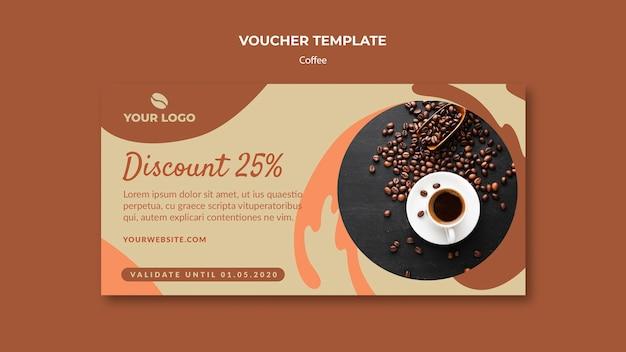 Makieta szablon kawa koncepcja kupon