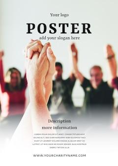 Makieta szablonu plakatu charytatywnego