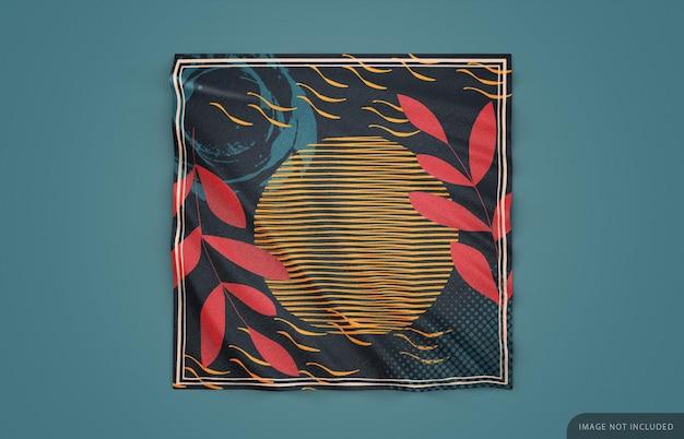 Makieta szalika z tkaniny