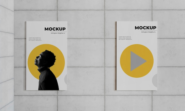 Makieta szarego betonu miejskiego plakatu