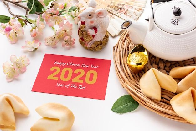 Makieta szczęśliwy chiński nowy rok