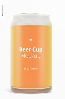 Makieta szklanego kubka piwa o pojemności 16 uncji, widok z przodu