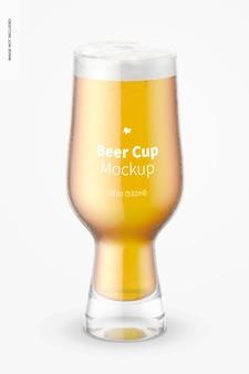 Makieta szklanego kubka piwa o pojemności 18 uncji, widok z przodu