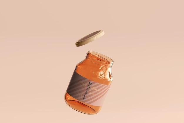 Makieta szklanego słoika z marmoladą