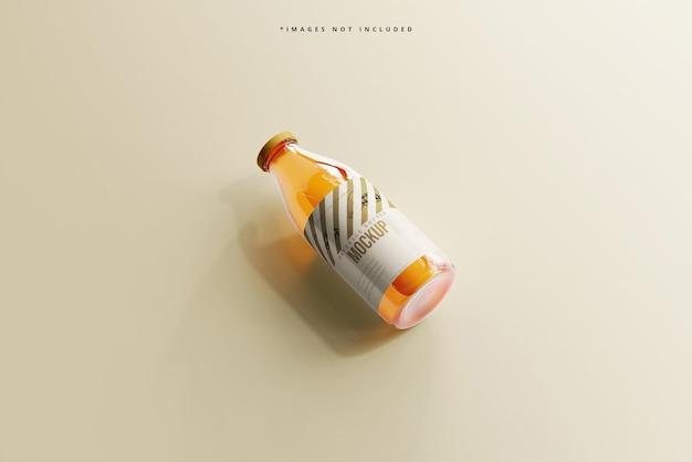 Makieta szklanej butelki do napojów bezalkoholowych