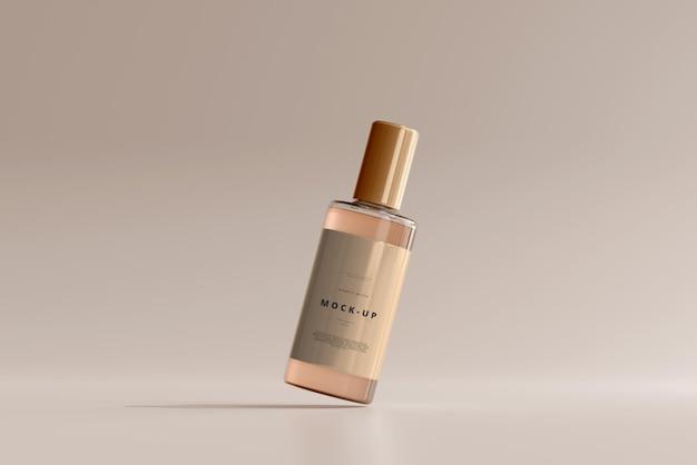 Makieta szklanej butelki kosmetycznej