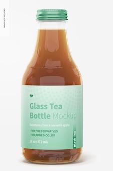 Makieta szklanej butelki na herbatę o pojemności 16 uncji