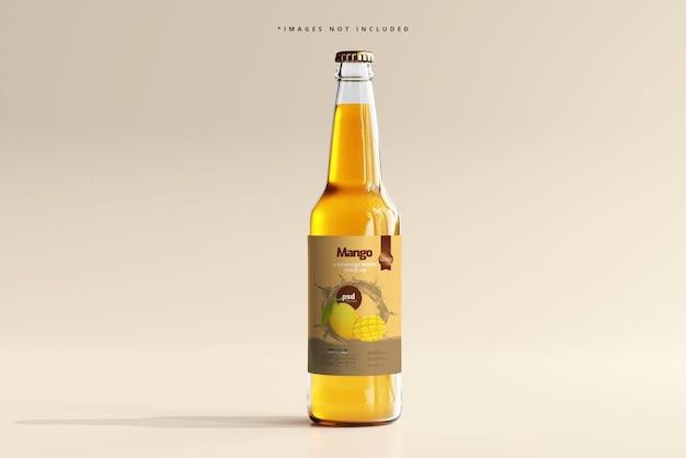 Makieta szklanej butelki na napoje