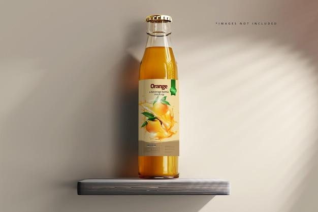 Makieta Szklanej Butelki Na Napoje Premium Psd