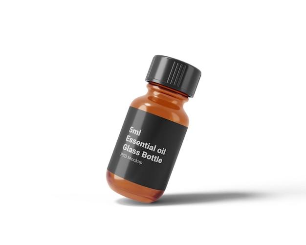 Makieta szklanej butelki o pojemności 5 ml