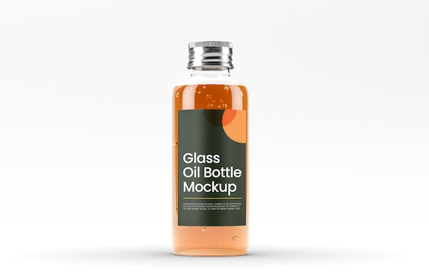 Makieta szklanej butelki oleju