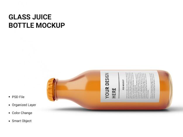 Makieta szklanej butelki soku